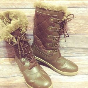 Totes brown snow boots size 11m